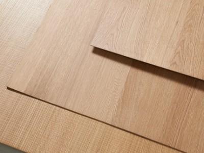 茁美科定木免漆饰面板kd板北美白橡木皮板电视背景墙护墙板装饰木