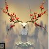 招财鹿头墙面装饰壁挂北欧风格客厅电视背景墙上装修欧式玄关挂件