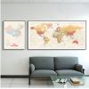 中英文世界地图挂画客厅沙发背景墙装饰画办公室书房墙面装修壁画
