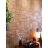 第三颗钻石中式木纹3d立体墙贴 电视背景装修客厅书房泡沫贴纸A24